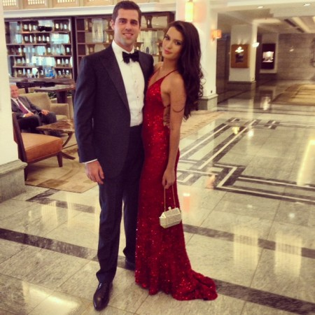 Istanbul Wedding: Ruby Red, Strappy-Back Evening Dress