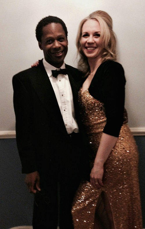 Park Theatre Gala: Sexy Strapless Gold Sequin Evening Gown