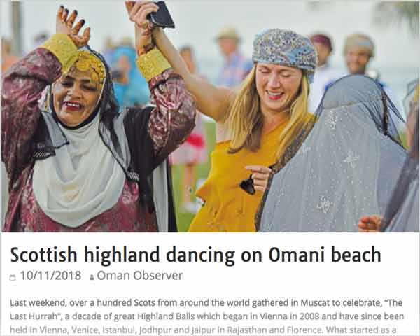 Highland Dancing in the desert: Scots in Oman